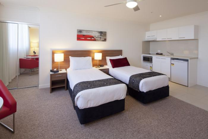 Sudima Suites Brisbane Twin Bedroom